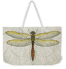 Golden Winged Skimmer Weekender Tote Bag