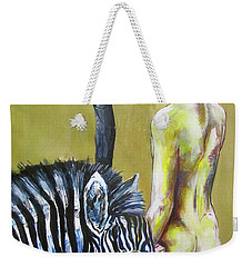 Golden Zebra High Noon Weekender Tote Bag