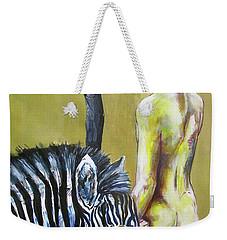 Golden Zebra High Noon Weekender Tote Bag