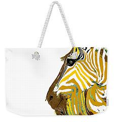 Golden Zebra Weekender Tote Bag by Saundra Myles