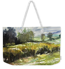 Goldenrod On The Lane Weekender Tote Bag by Judith Levins