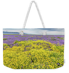 Weekender Tote Bag featuring the photograph Goldfield And Phacelia by Marc Crumpler