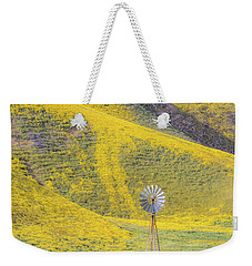 Goldfields And Windmill At Carrizo Plain  Weekender Tote Bag