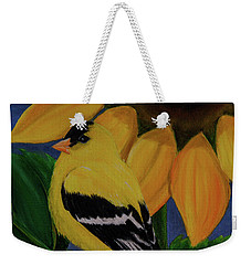 Goldfinch And Sunflower Weekender Tote Bag