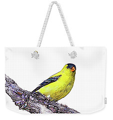 Goldfinch On Branch Weekender Tote Bag