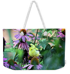 Goldfinch On Coneflowers Weekender Tote Bag