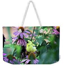 Goldfinch On Coneflowers Weekender Tote Bag