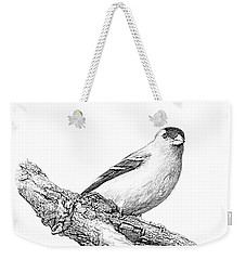 Goldfinch B And W Weekender Tote Bag