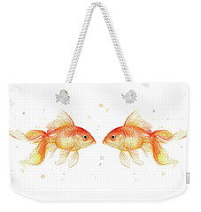 Goldfish Love Watercolor Weekender Tote Bag