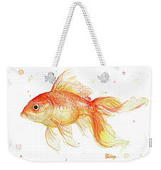 Goldfish Painting Watercolor Weekender Tote Bag