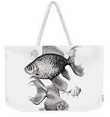 Goldfish Weekender Tote Bag by Sarah Batalka