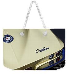 Goldwood Yellow Corvette Weekender Tote Bag by Dennis Hedberg