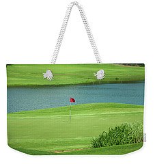 Golf Approaching The Green Weekender Tote Bag by Chris Flees
