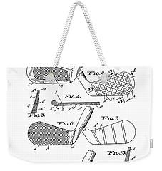 Golf Club Patent Drawing White 3 Weekender Tote Bag