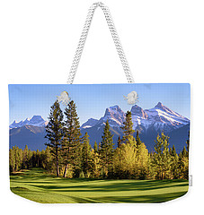 Golf Course In The Mountains Weekender Tote Bag by Keith Boone