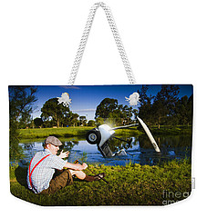 Weekender Tote Bag featuring the photograph Golf Problem by Jorgo Photography - Wall Art Gallery