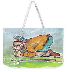 Golfer With Hot Air Weekender Tote Bag