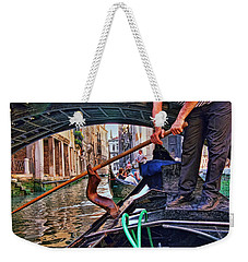 Weekender Tote Bag featuring the photograph Gondola 2 by Allen Beatty