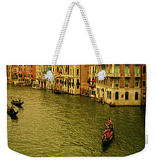 Weekender Tote Bag featuring the photograph Gondola Life by Anne Kotan
