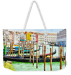 Gondolas On The Grand Canal Venice Italy Weekender Tote Bag