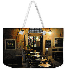 Weekender Tote Bag featuring the photograph Gondolier In Accademia by Jacqueline M Lewis