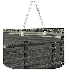 Gone Fishing In Black And White Weekender Tote Bag