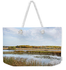 Weekender Tote Bag featuring the photograph Gone Fish'n by Kathi Mirto
