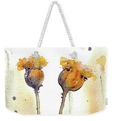 Weekender Tote Bag featuring the painting Gone To Seed by Dawn Derman
