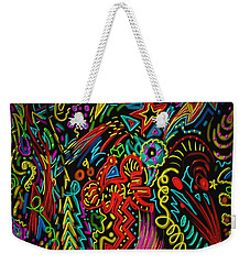 Weekender Tote Bag featuring the painting Gone Wild by Kevin Caudill