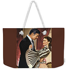 Gone With The Wind - 1939 - Completely Retouched In Color Weekender Tote Bag