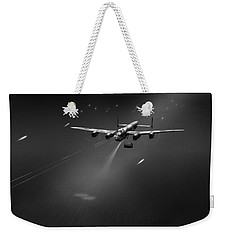 Weekender Tote Bag featuring the photograph Goner From Dambuster J-johnny Bw Version by Gary Eason