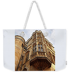 Weekender Tote Bag featuring the photograph Gonville And Caius College Library Cambridge by Gill Billington