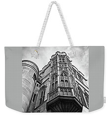 Weekender Tote Bag featuring the photograph Gonville And Caius College Library Cambridge In Black And White by Gill Billington