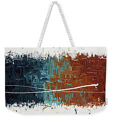 Weekender Tote Bag featuring the painting Good Feeling - Abstract Art by Carmen Guedez