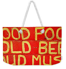 Good Food Weekender Tote Bag by Michelle Calkins