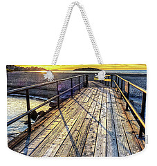 Good Harbor Beach Footbridge Shadows Weekender Tote Bag