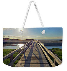Good Harbor Beach Footbridge Sunny Shadow Weekender Tote Bag