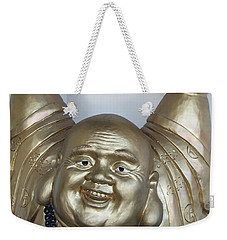 Good Luck Buddha Weekender Tote Bag by Suhas Tavkar