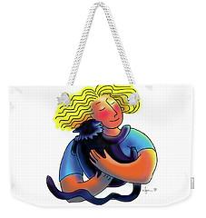 Good Luck Kitty Weekender Tote Bag