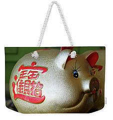 Good Luck Pig Weekender Tote Bag