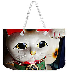 Weekender Tote Bag featuring the photograph Good Meowning. #myfab5 by Mr Photojimsf