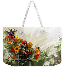 Good Morning Flowers Weekender Tote Bag