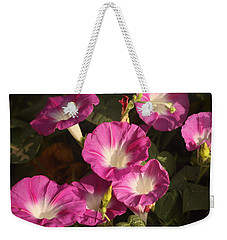 Weekender Tote Bag featuring the photograph Good Morning, Glory by Sheila Brown