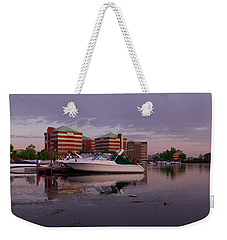 Weekender Tote Bag featuring the photograph Good Morning Harbor by Joel Witmeyer