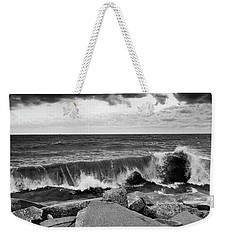 Weekender Tote Bag featuring the photograph Good Morning In Black And White by Ricky L Jones