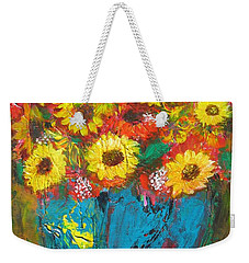 Good Morning Sunshine Weekender Tote Bag by Maria Watt