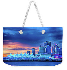 Weekender Tote Bag featuring the photograph Good Morning Vancouver by John Poon