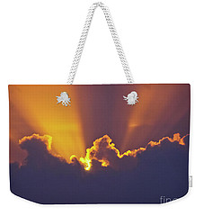 Weekender Tote Bag featuring the photograph Good Night Sunshine by Terri Waters