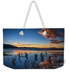 Weekender Tote Bag featuring the photograph Good Night Tahoe by Mitch Shindelbower