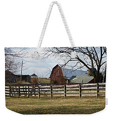 Good Old Barn Weekender Tote Bag by Donald C Morgan